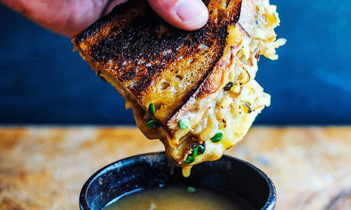 French Onion Gruyere Cheese Toasties