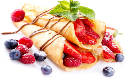 Sweet Fruit Crepes