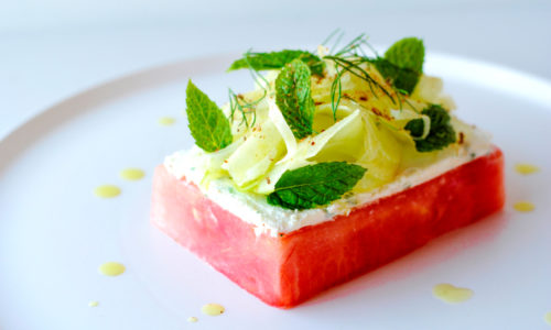 Watermelon Goat Cheese & Fennel